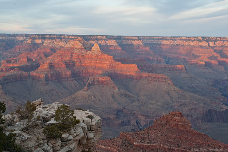 Sonnenuntergang am Grand Canyon National Park