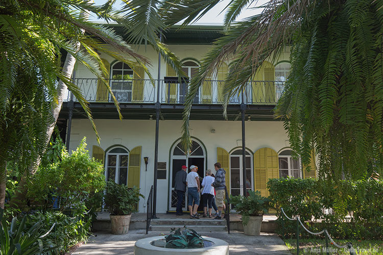Das Haus von Ernest Hemmingwy in Key West
