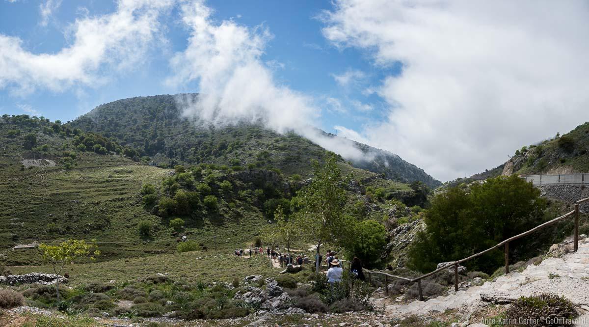 Beginn des Wanderweges in die Imbros-Schlucht