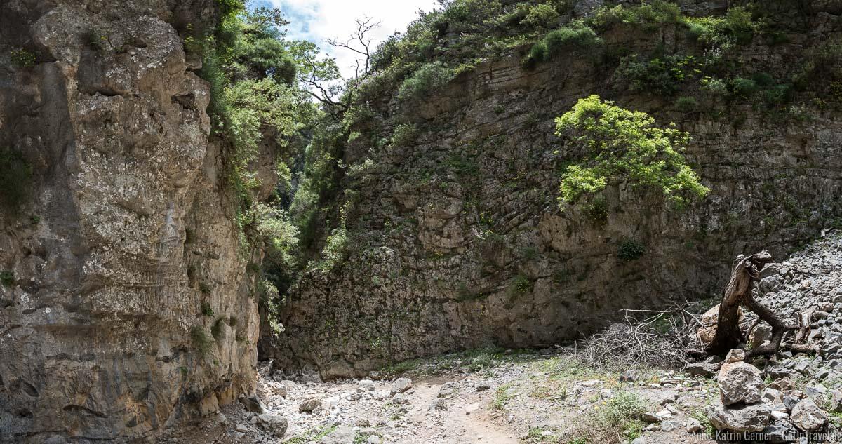 Felswände in der Imbros-Schlucht