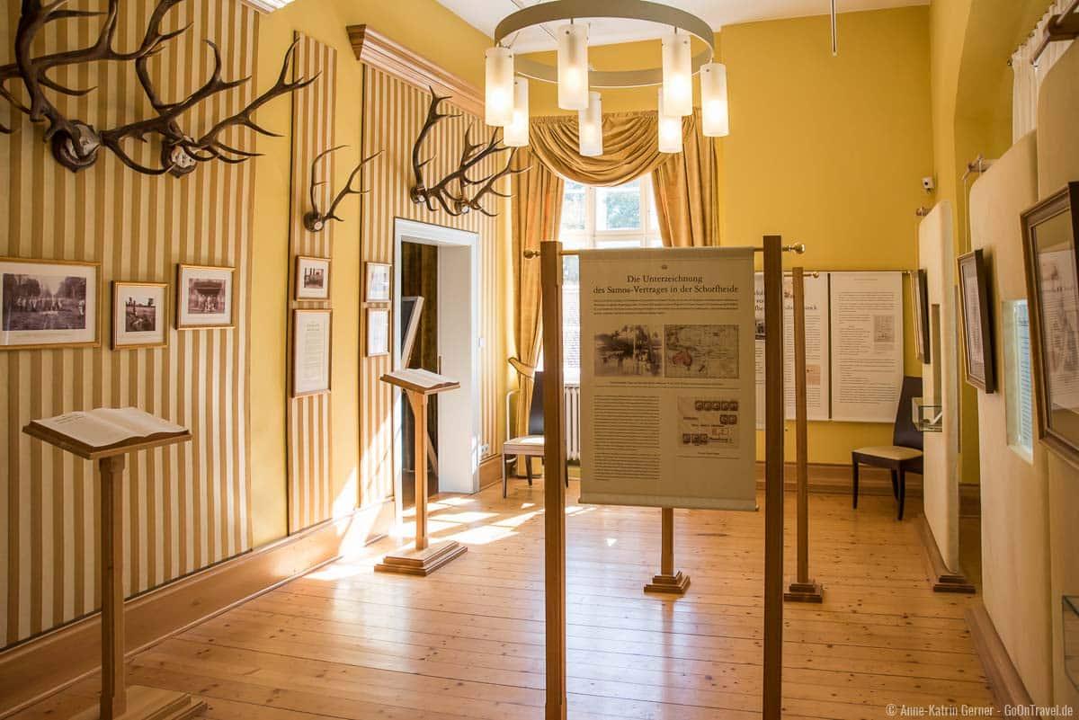 Ausstellungsräume im Jagdschloss Schorfheide