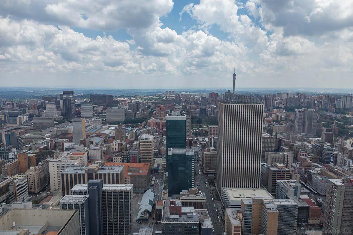 Blick auf Johannesburg
