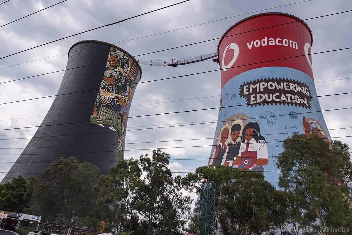 Die Orlando Towers in Soweto