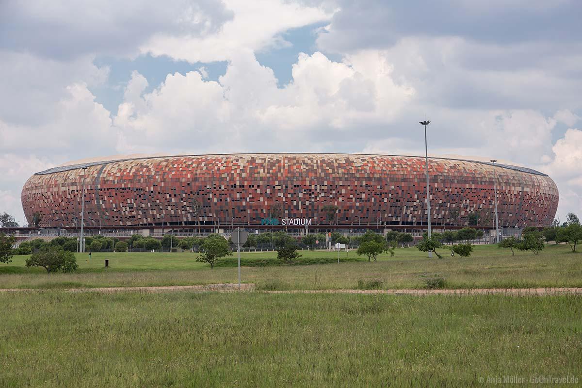 Soccer City - Das Fussball Stadium von Johannesburg