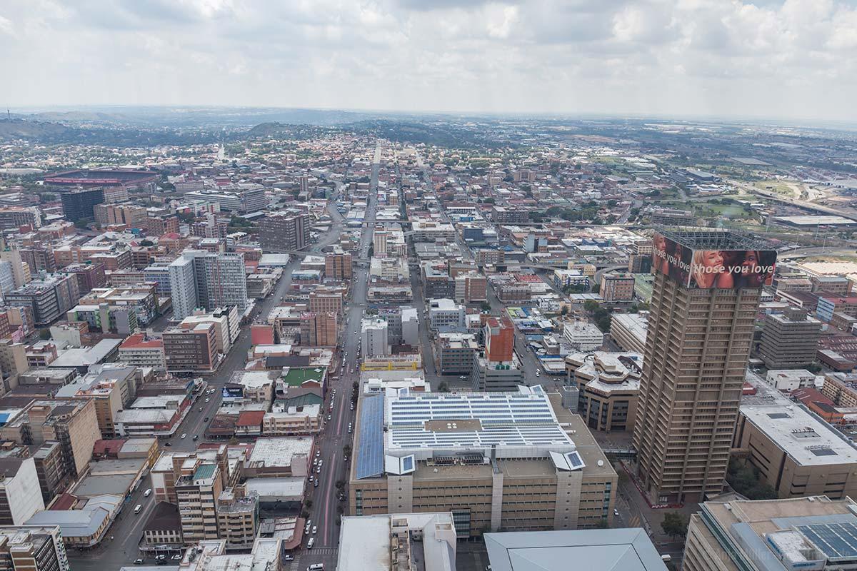Blick auf Johannesburg vom Carlton Centre