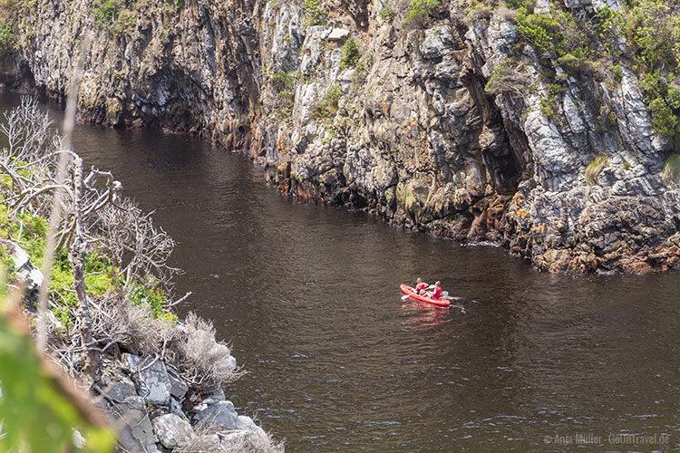 Kajak fahren auf dem Storms River