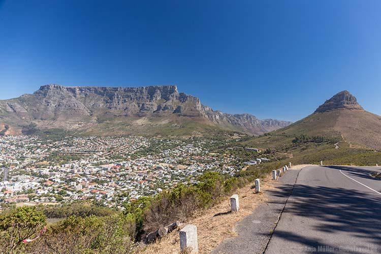 Blick auf den Tafelberg und den Lions Head