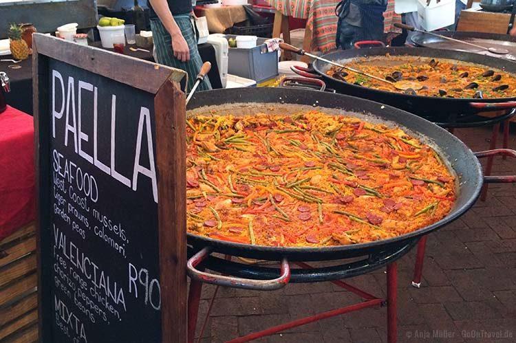 Paella auf dem Neighbourgoods Market in Kapstadt