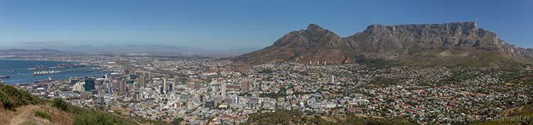 Aussicht vom Signal Hill auf Kapstadt