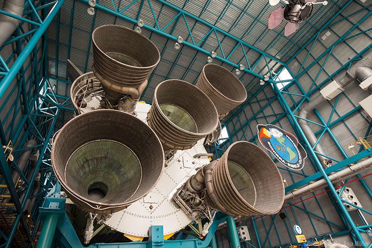 Das Triebwerk der SATURN V Rakete