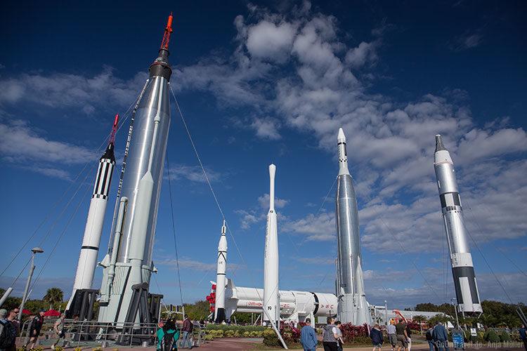 Beeindruckende Raketen im Rocket Garden