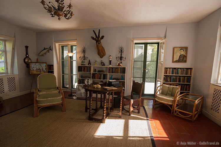 Das Studio von Ernest Hemingway