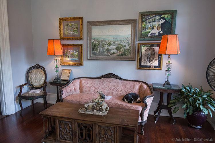 Das Wohnzimmer im Ernest Hemingway Haus