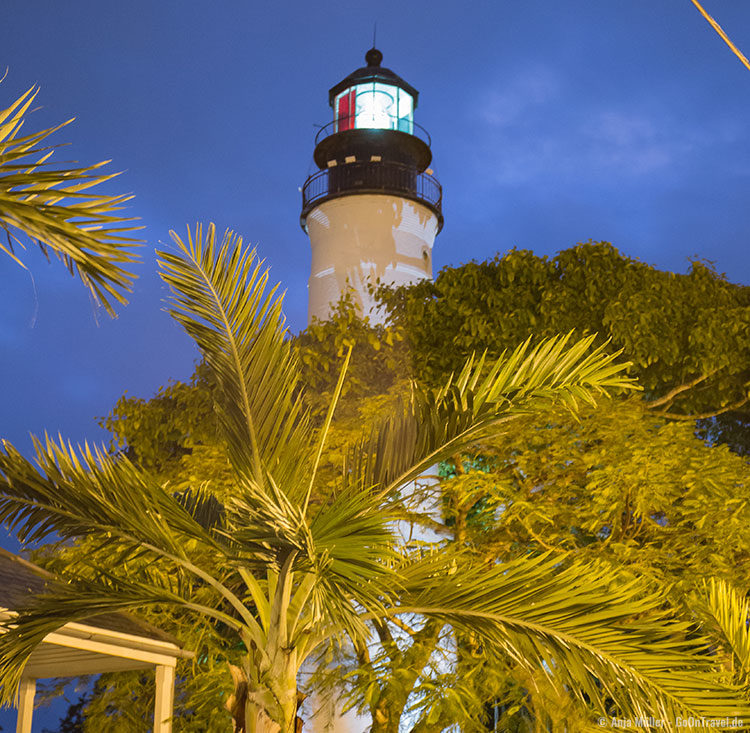 Leuchtturm in Key West am Abend