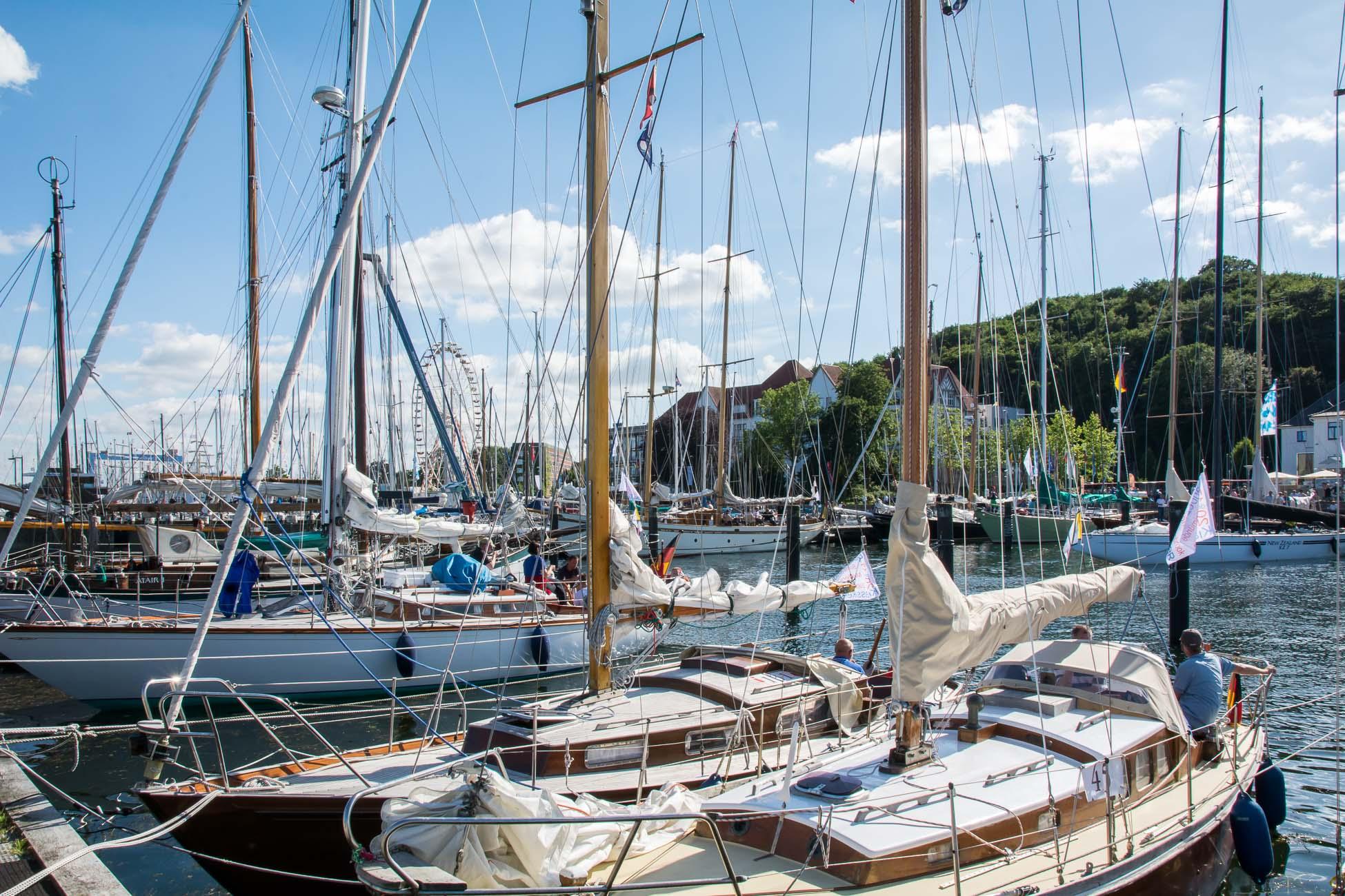 Kieler Woche Segelboote Hafen