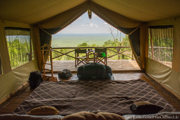 Zelt im Kilima Camp Maasai Mara