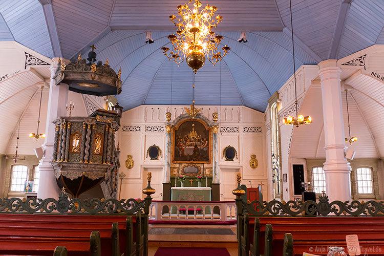 Die Kirche in Arjeplog von innen