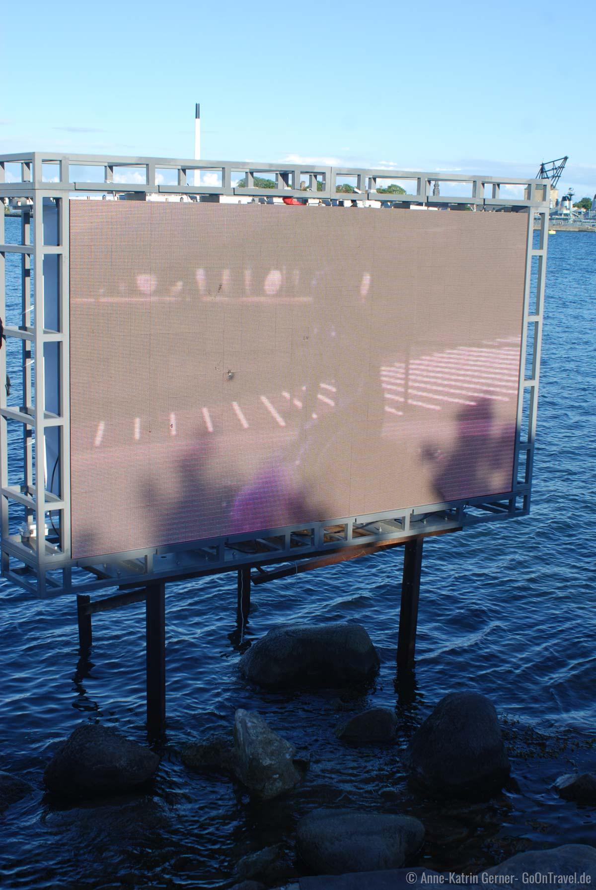 Zur EXPO 2010 saß die kleine Meerjungfrau nur virtuell in Kopenhagen