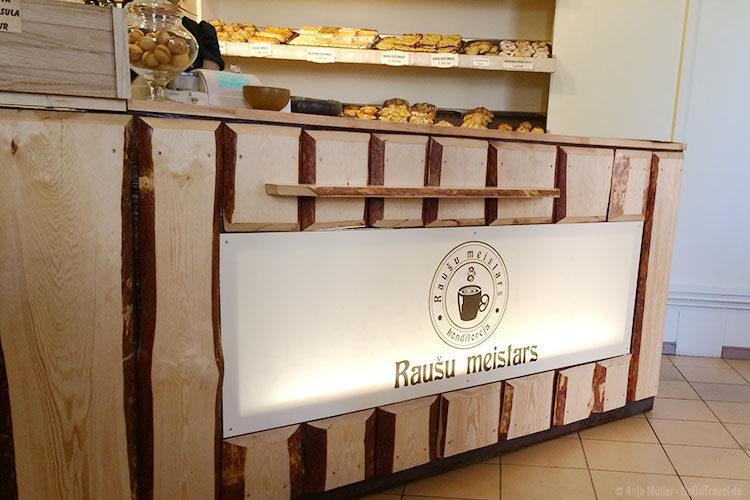 Die Theke des Cafes Rausu meistars