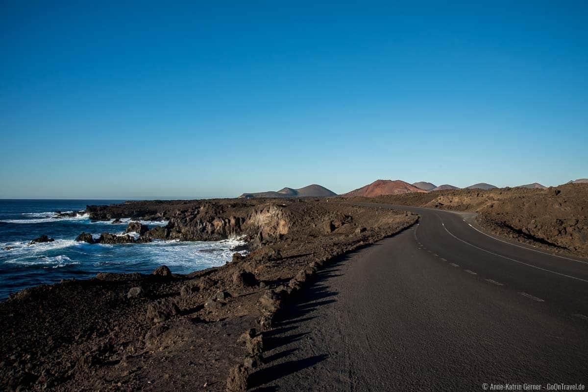 traumhafte Küstenstraße von Lanzarote
