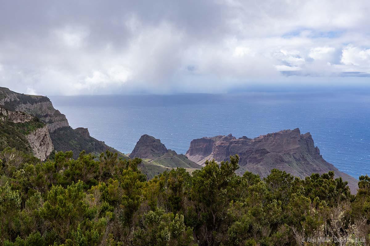 Blick auf die Westküste von La Gomera