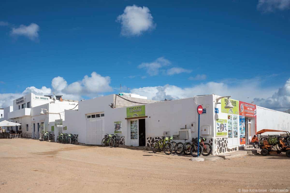 Fahrradverleih in Caleta del Sebo auf La Graciosa