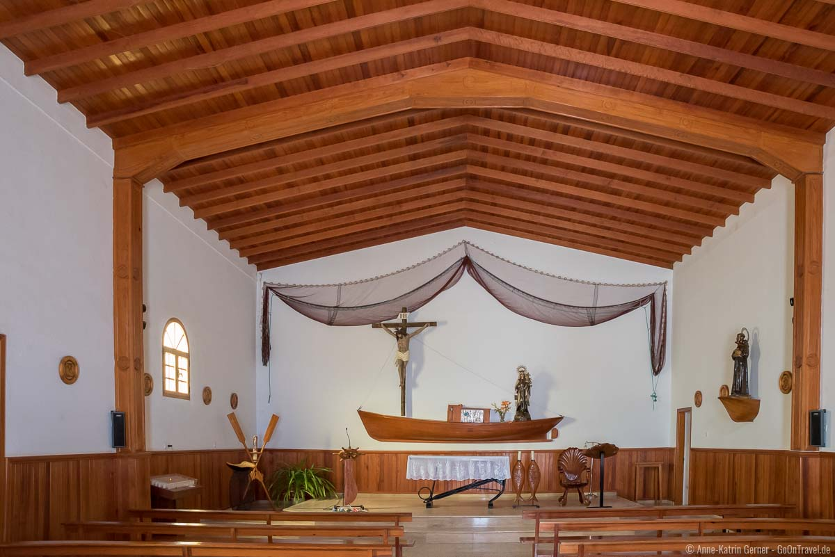 Viele maritime Details finden sich in der Kirche auf La Graciosa
