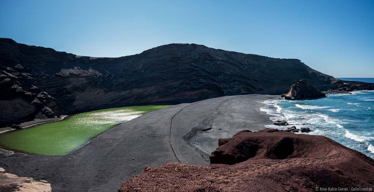 Charco de los Clicos - der grüne See von Lanzarote in El Golfo