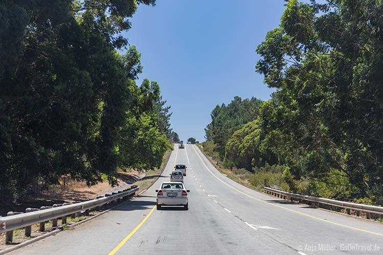 In Südafrika fährt man auf der linken Seite