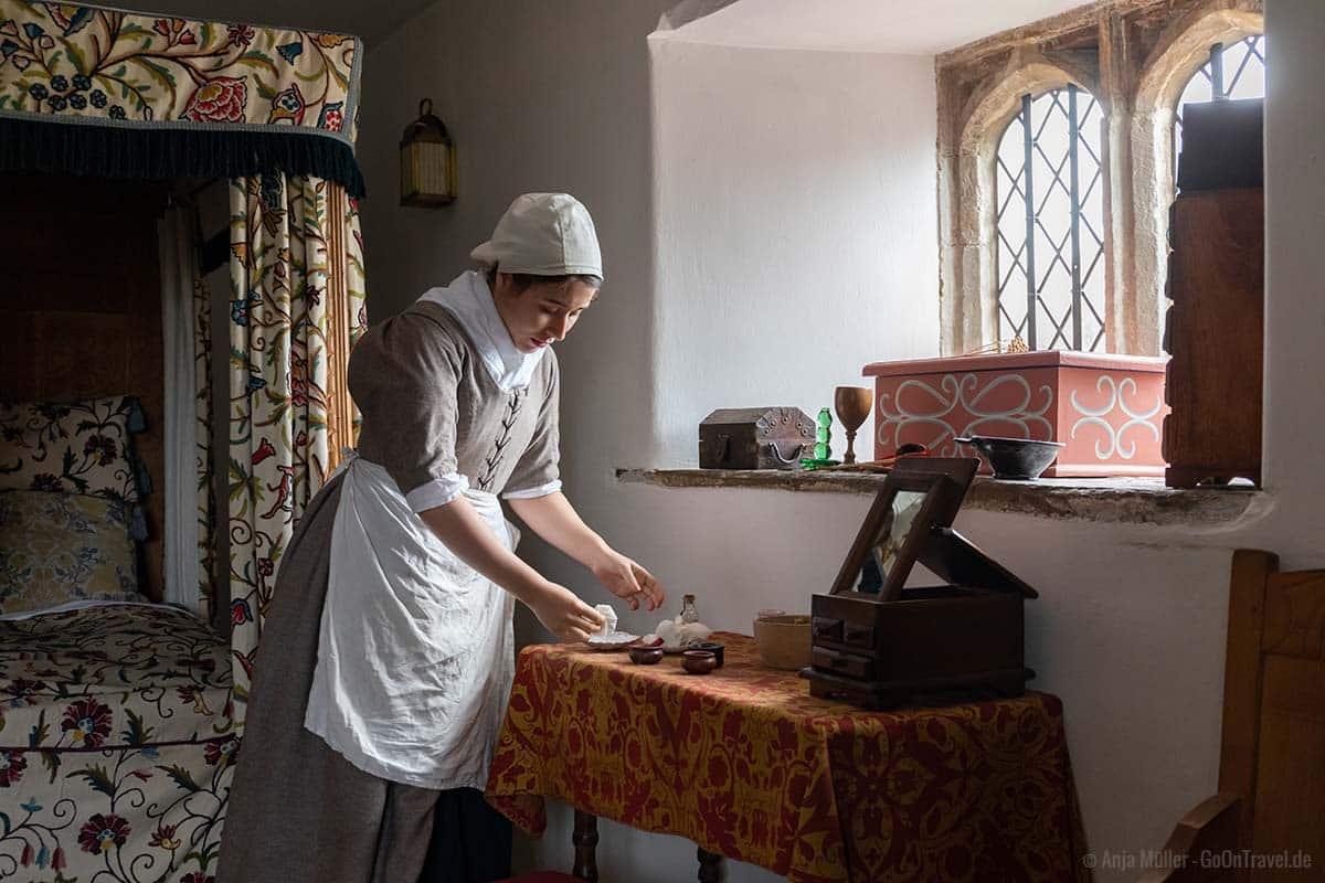 Kindermädchen im Llancaiach Fawr Manor