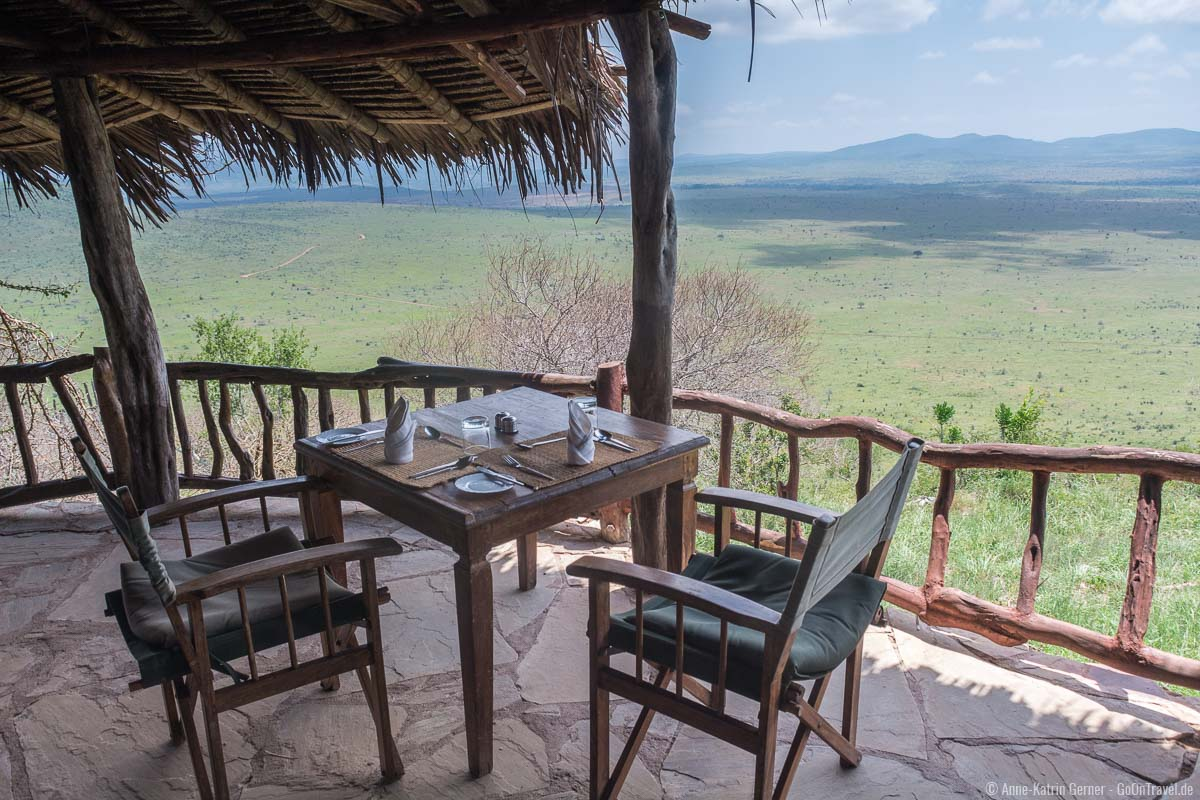 Lunch time in der Lions Bluff Lodge
