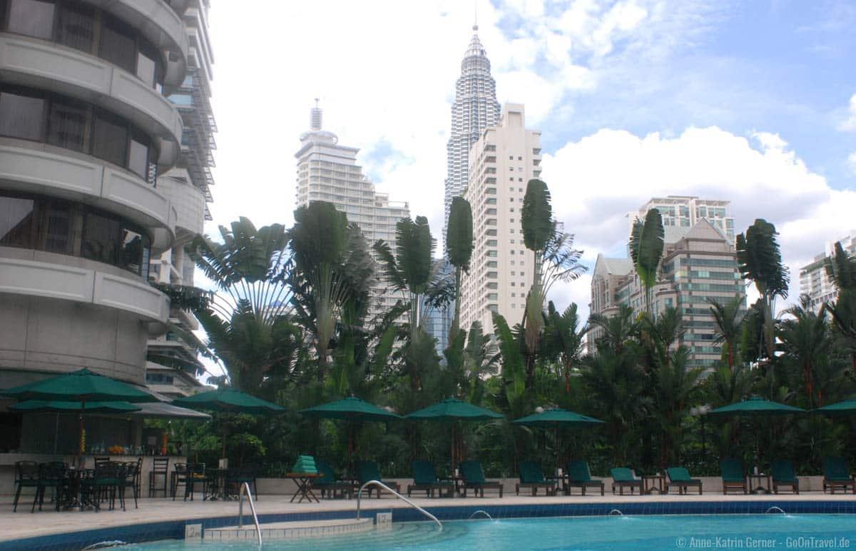 Pool vom Shangri-La Hotel in Kuala Lumpur