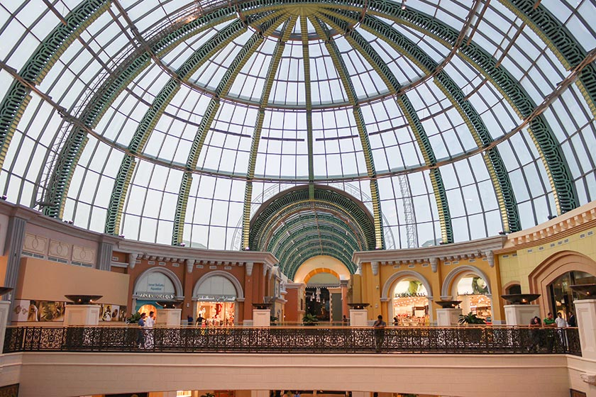 Kuppeldach in der Mall of the Emirates