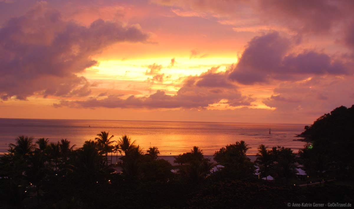 Sonnenuntergang über Kota Kinabalu