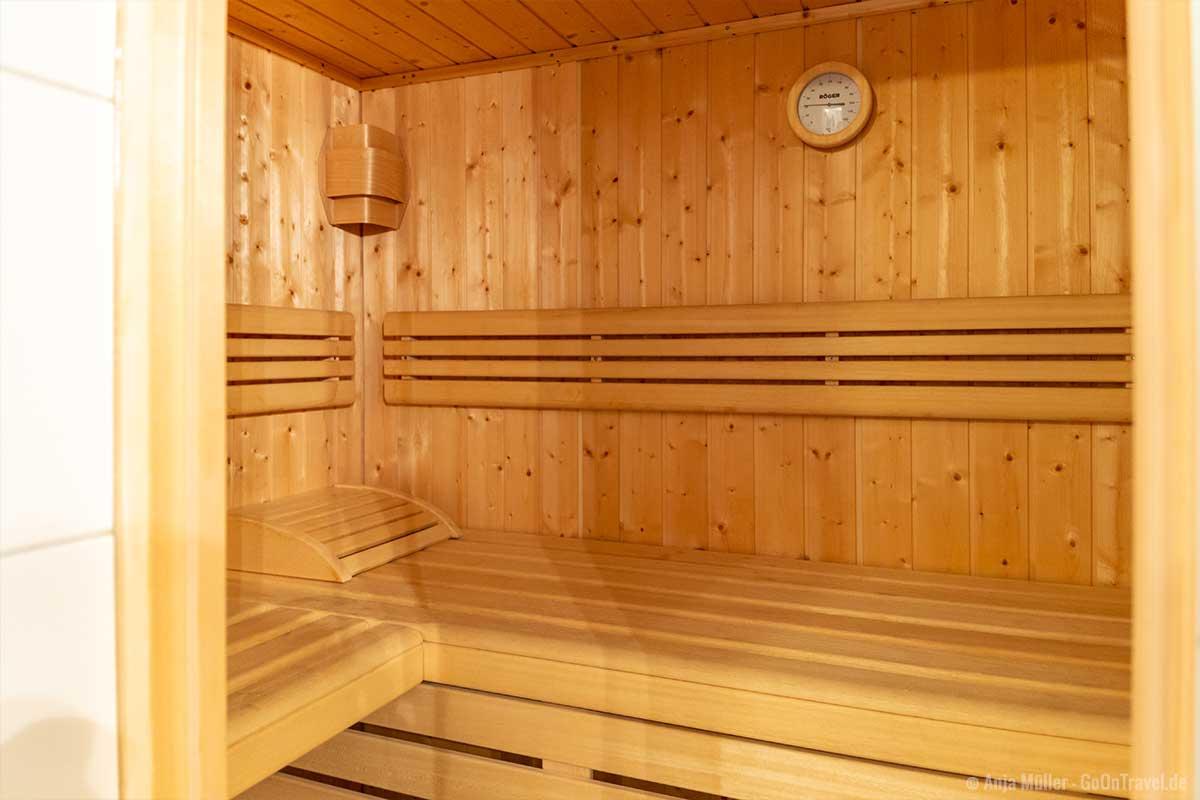 Sauna im Ferienhaus