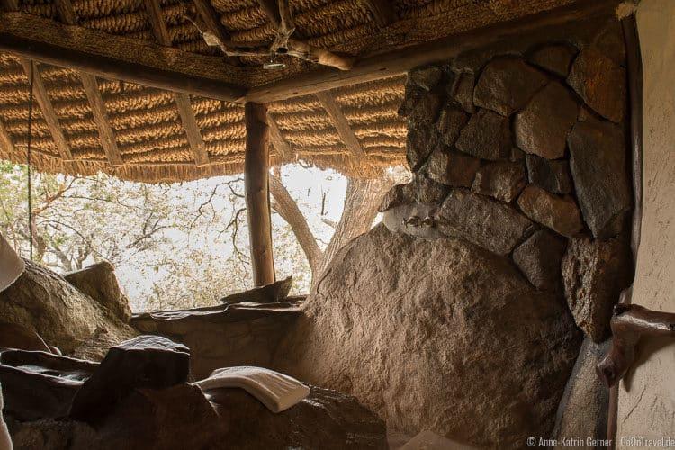 Dusche im Cottage