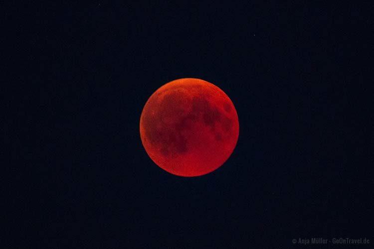 Mondfinsternis mit Blutmond