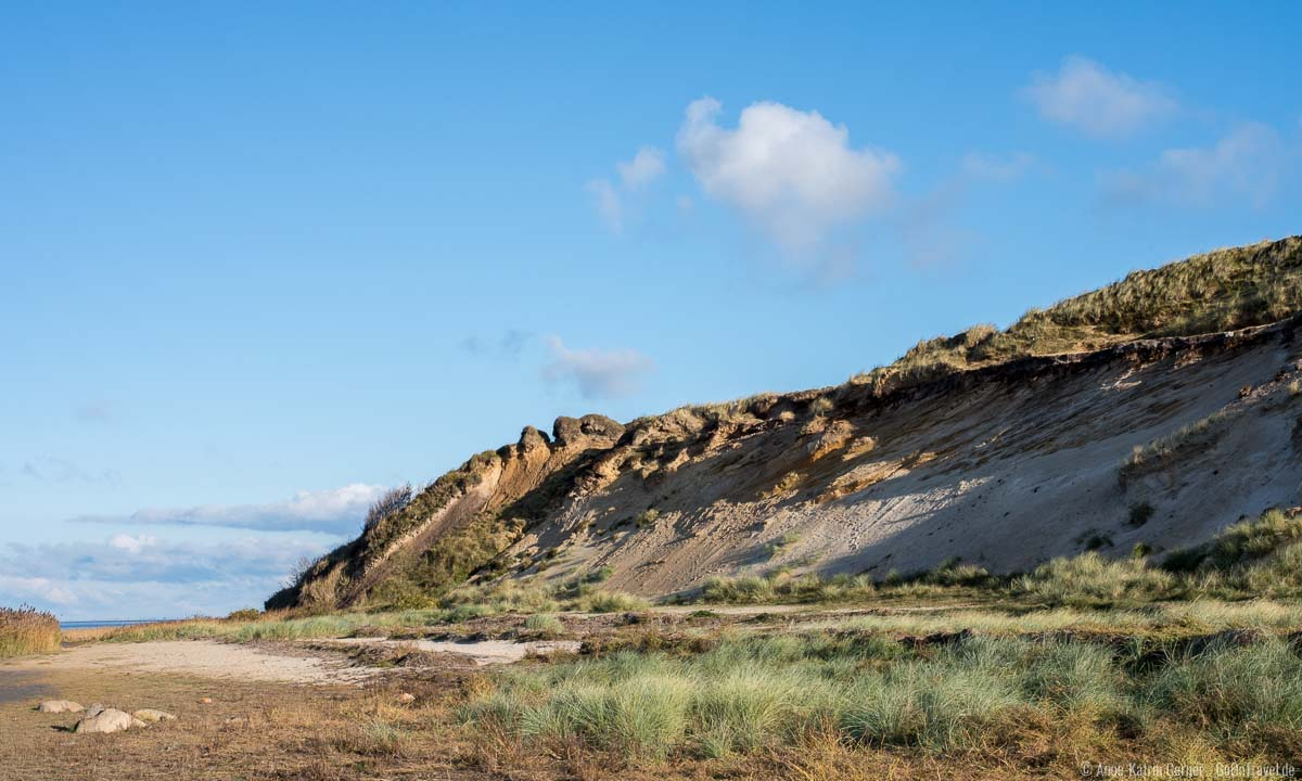 Morsum Kliff unterhalb des Wanderweges