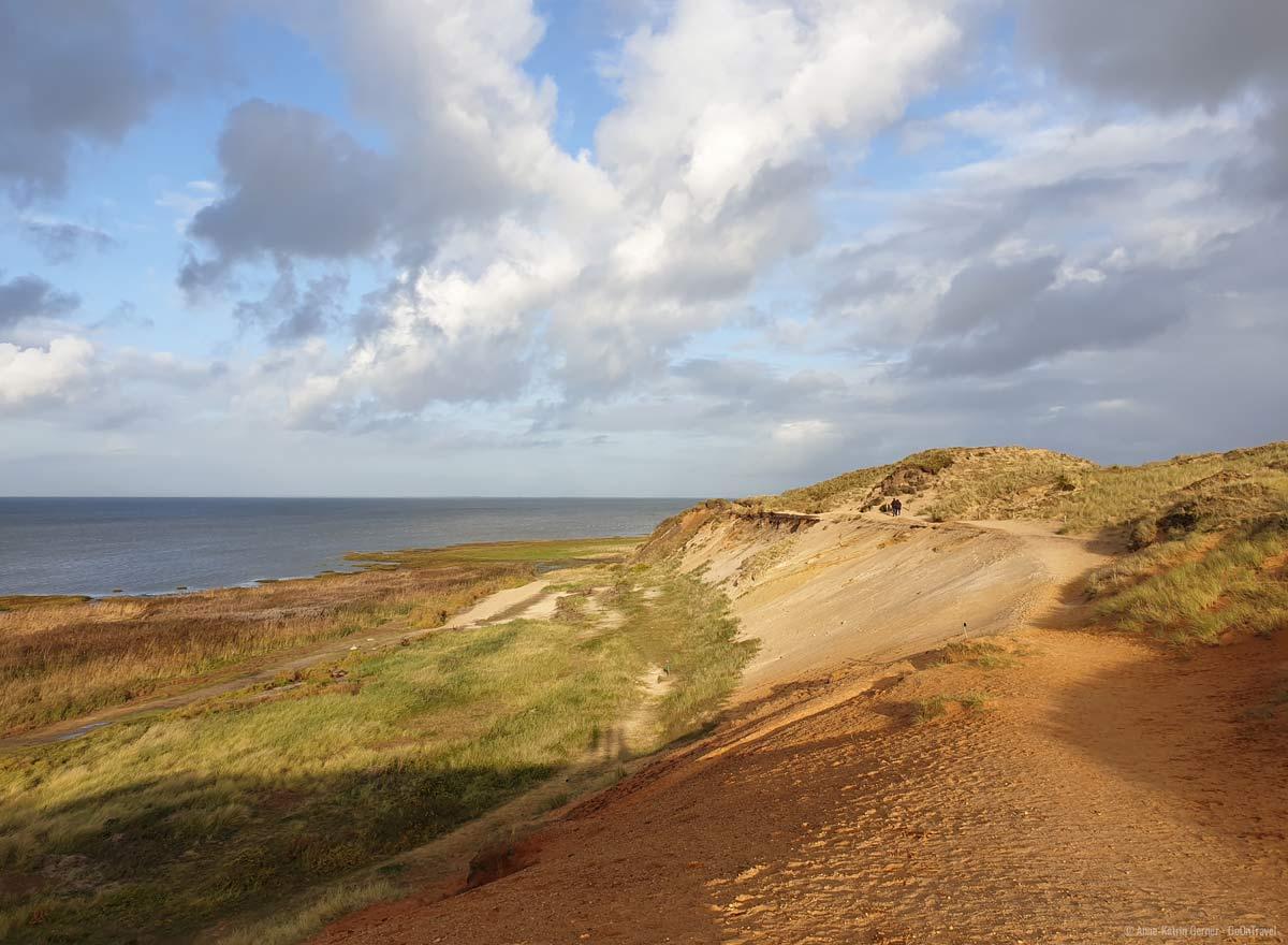 Morsum Kliff im Oktoberlicht