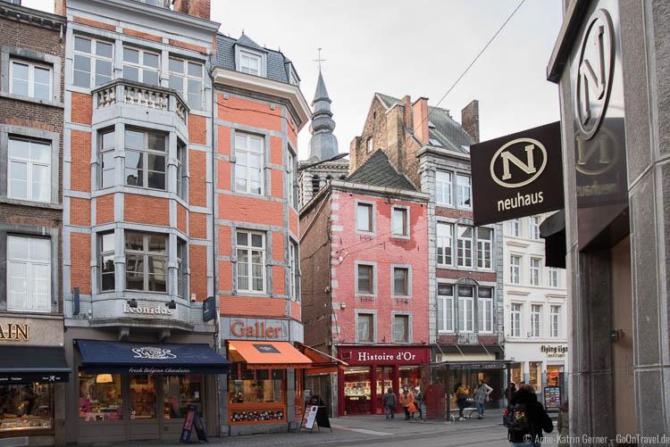 Schokoladenparadies in Namur: Rue de Fer