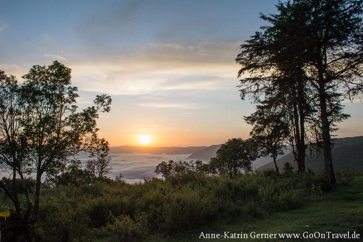 Sonnenaufgang Ngorongoro Serena Lodge