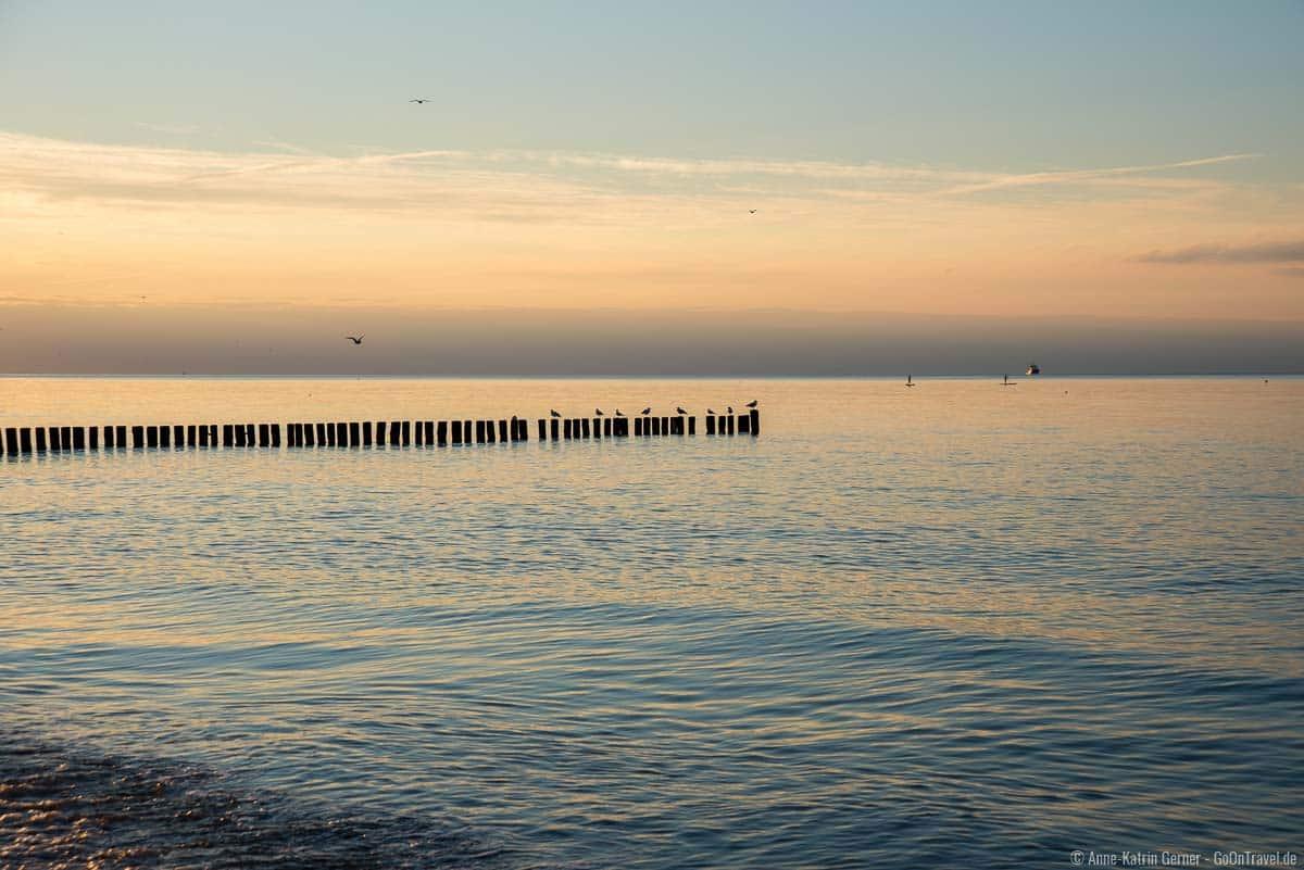 Abendstimmung am Strand von Nienhagen