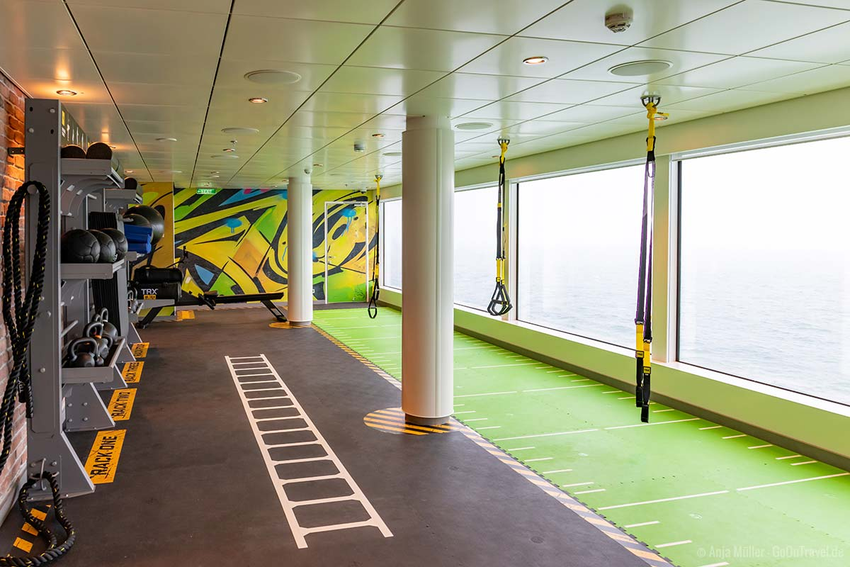Das Fitnessangebot auf der Norwegian Encore