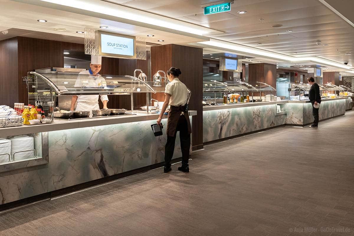 Buffet Restaurant Garden Café auf der Norwegian Encore