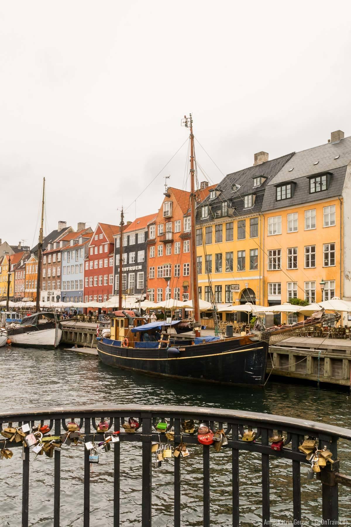 Blick in den Kanal am Nyhavn