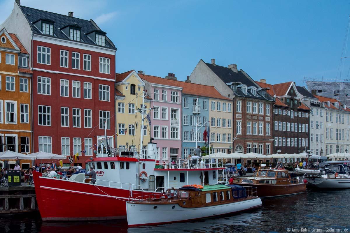 Die farbenfrohen Häuser von Nyhavn.