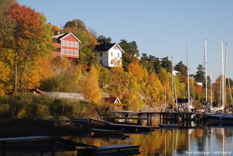 Herbst auf der Halbinsel Bygdøy