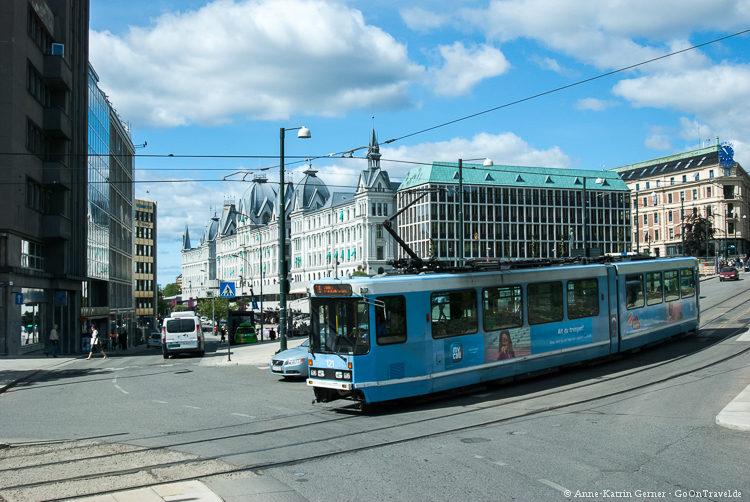 Mit der Tram durch Oslo