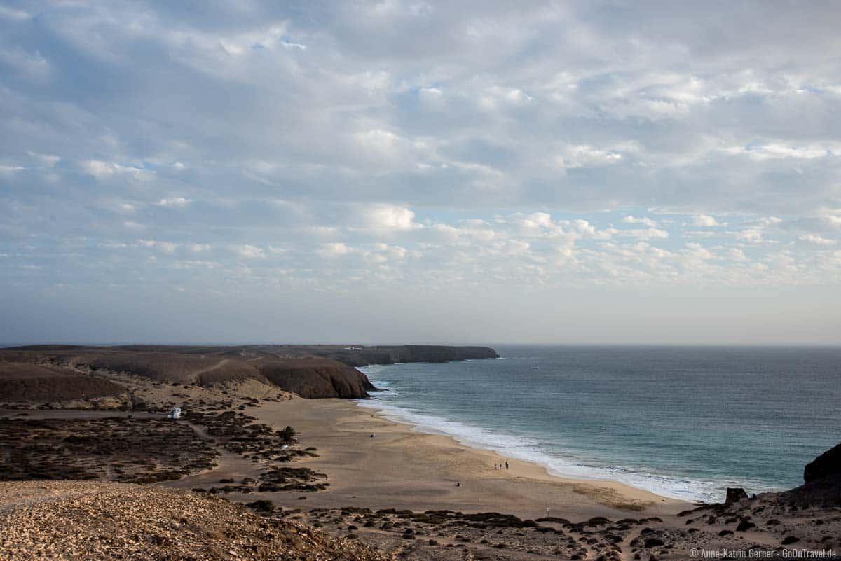 Zum Playa Mujeres führt von Playa Blanca ein unbefestigter Fußweg