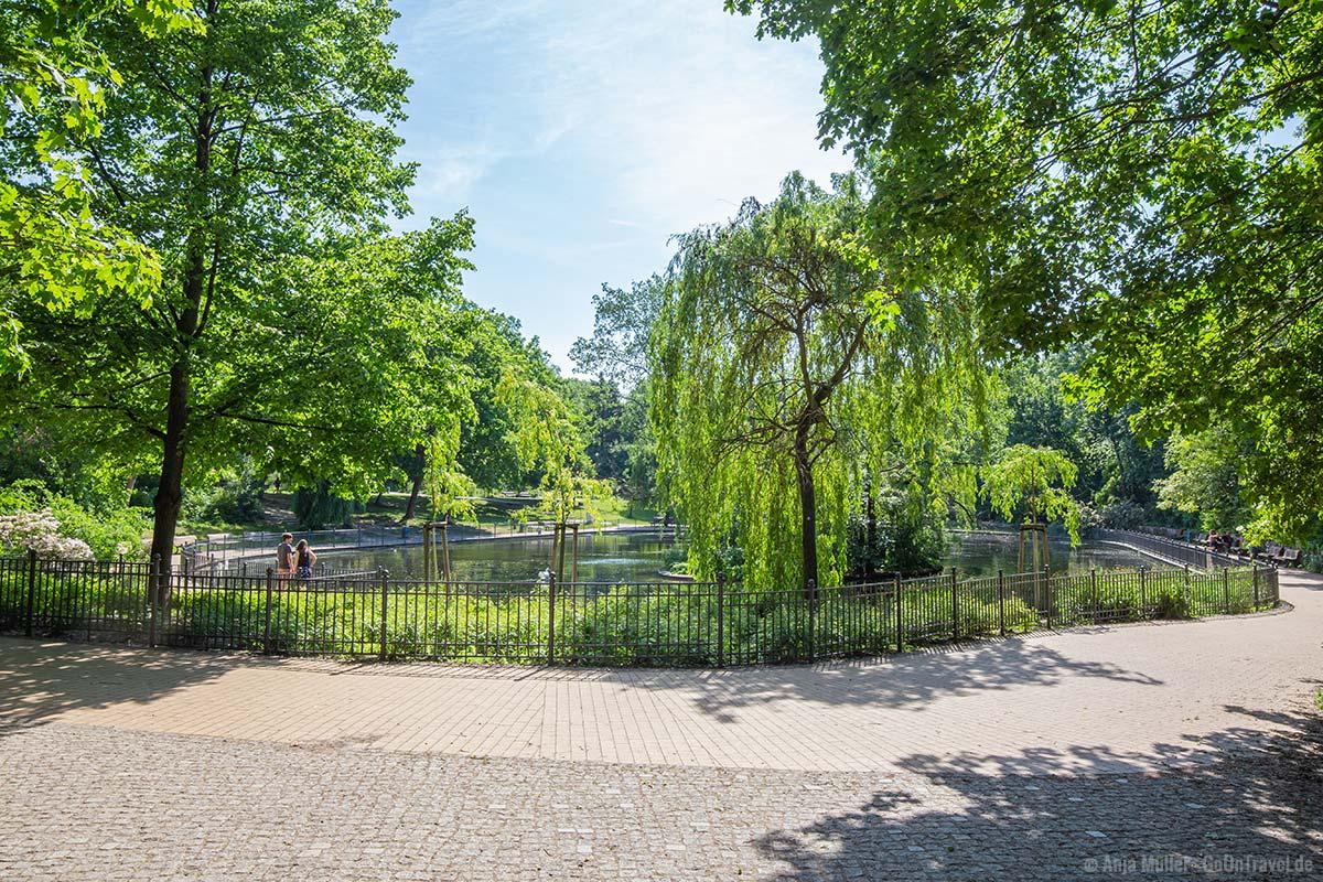 Teich im Volkspark Friedrichshain